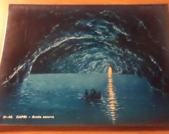 Vintage Original capri grotta azzurra Postcard Free Shipping