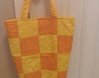 Hand made quilted tote bag.