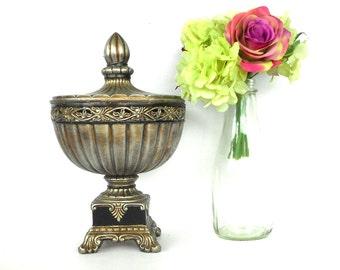 "13.5""H, Round Box, Ornate Box, Decorative Round Box, Silver Box, Round Trinket Box, Large Round Box, Ornate Box, Table Box,Ornate Box"