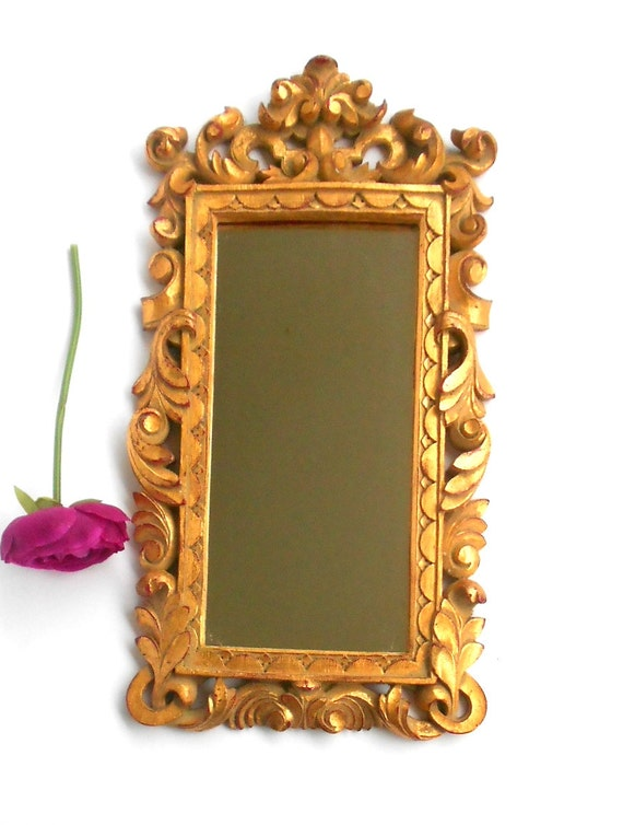 Narrow mirrordecorative wall mirrorgold frame by goldleafgirl for Narrow wall mirror decorative