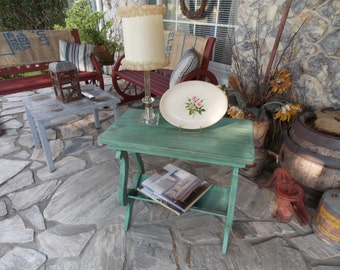Turquoise Side Table..... Please read shipping details