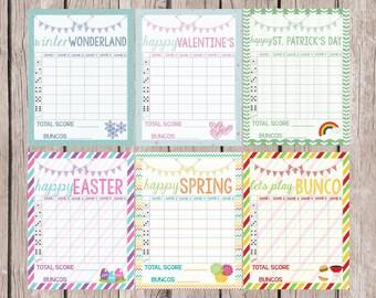 Printable Christmas Bunco Score Sheet Bunco Water Bottle