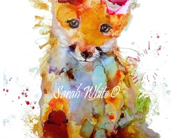 Fox cub A4 Giclee Print
