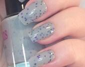 Storm cloud nail varnish - 5ml handmade indie nail polish