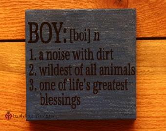 Boy Definition sign