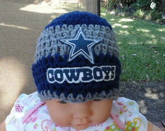 Dallas Cowboys inspired  baby hat, toddler hat, winter hat, warm hat, , football teams hat