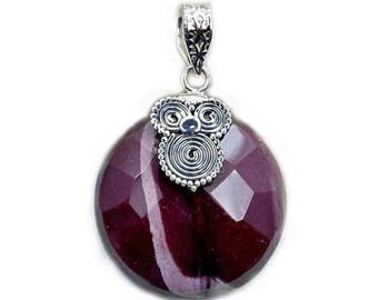 Mookaite & .925 Sterling Silver Pendant , AB337