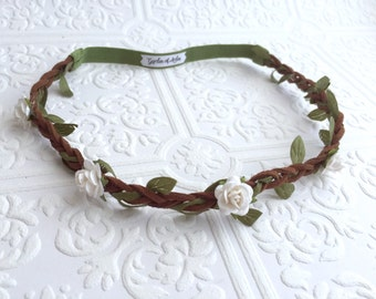 The Woodland Pixie Crown- Your Rosebud Color Choice