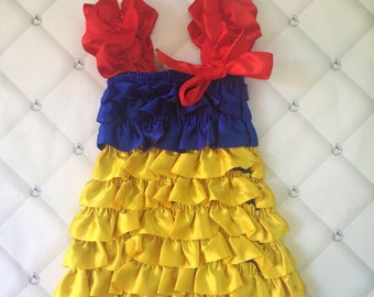Princess Dress & Handmade Flower Headband