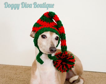 Christmas Elf Hat for a Dog or cat - Made to Order