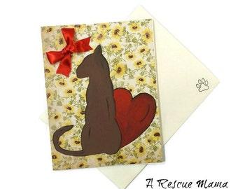 Cat Condolences Card - Sympathy Card - Cat Sympathy Card - Cat Bereavement - Handmade Sympathy Card - Loss of Pet Card - Loss of a Cat