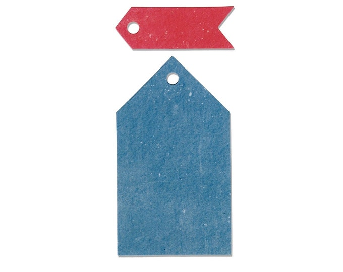 New! Sizzix Border Originals Die - Tags, Pointed by Echo Park Paper Co. 660445
