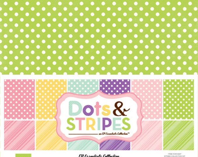 Echo Park Paper DOTS & STRIPES Spring 12x12 Scrapbook Paper Collection Kit (DS15007)