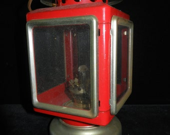 Vintage Kerosene Carriage Lantern - Red Lantern