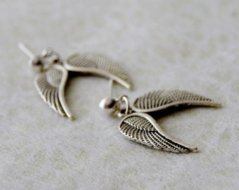 Wing Earrings, Angel Earrings, Silver Wing Earrings, Wing Studs, Angel Wing Earrings, Angel Jewelry / Angel Wing stud Earrings