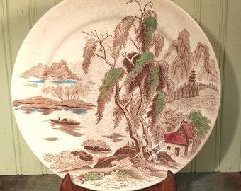 "Vintage Nasco Sayonara Oriental 12"" China Dinner Plate"