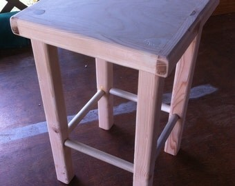 Mid Height Stool,   (12 x 12 x 18)