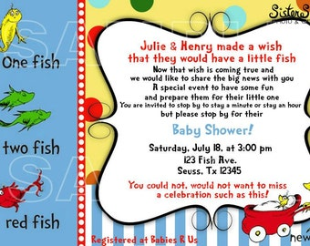Dr.Seuss Baby Shower Invitation