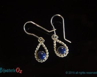 Lapis Lazuli teardrop earrings handmade by BijouterieOz