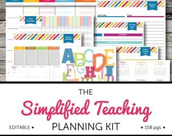 Simplified Teaching Planning Kit: EDITABLE