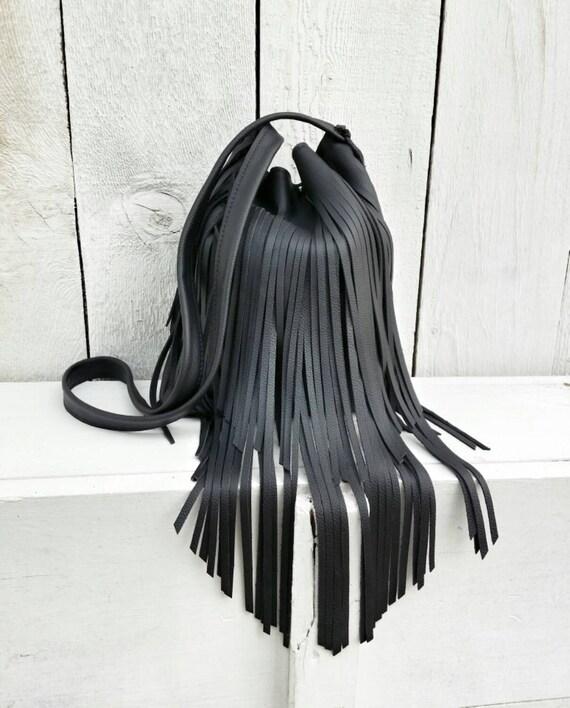 Leather Fringed Purse 15