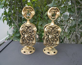 Vintage Rare Stylebuilt Gold Filigree Pair of Perfume Bottles