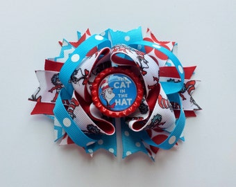 Dr Seuss Cat in the Hat Boutique Bow 4 inch Bow