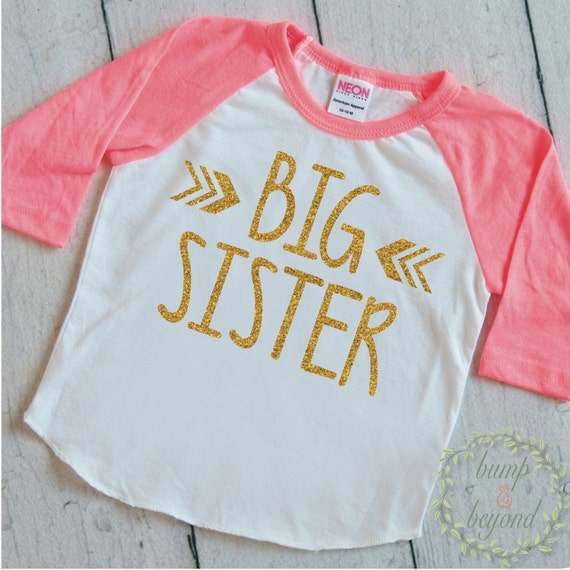 Big sister shirt pregnancy announcement by for Big sister birth announcement shirts
