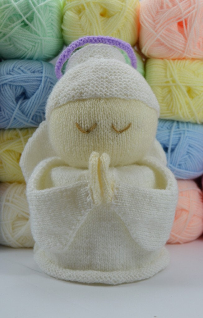Toilet Roll Cover Knitting Pattern : KNITTING PATTERN Angel Toilet Roll Cover Knitting Pattern