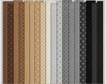 Dotty Cardstock Set 1 (neutrals) - Digital Scrapbooking Papers