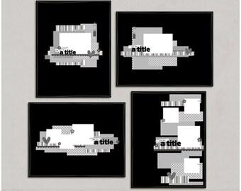 Lotsa Paperz - 8.5x11 Digital Scrapbooking Templates