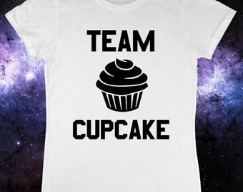 Team Cupcake Ladies Ironic Gym T-Shirt