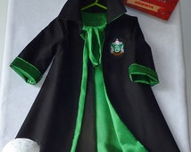 Ready To Ship NOW: Hufflepuff - Harry Potter 'House' Robes, sizes 0-1, All Cotton Outer, Dance Satin Lining, Infant Graduation Robes