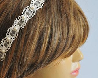 Wedding Headband, Lace headband, bridal hairband, wedding accessory, hair accessories, wedding hair accessories, weddings, vintage style