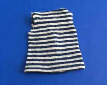 Vintage Barbie Striped Top Tee Fashion Pak T-Shirt
