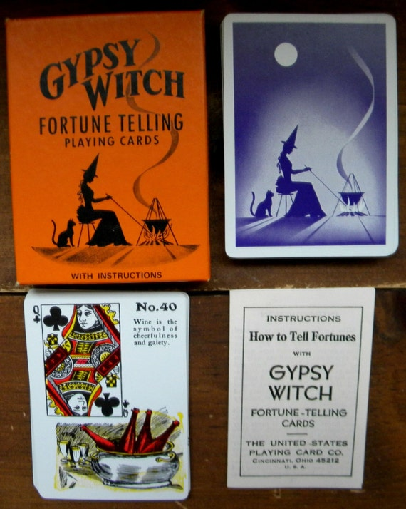 Vintage Gypsy With Fortune Telling Cards Tarot Cards