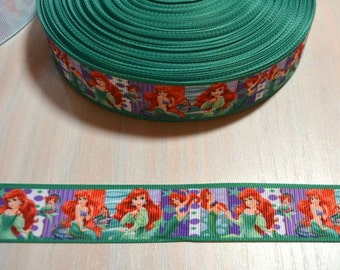 1 inch Grosgrain Ribbon - Little Mermaid