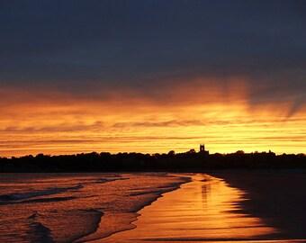 Newport, RI Sunset, Second Beach, Middletown RI, Sunset Photography, Rhode Island, New England, Beach Photography, Ocean Decor