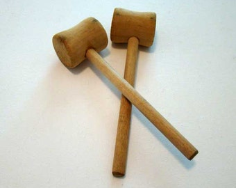 Crab mallets, wood seafood mallets, wooden mallets, lobster mallets, wood mallet, set of 2