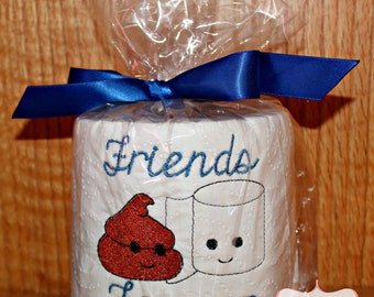 Friends Forever Embroidered Toilet Paper