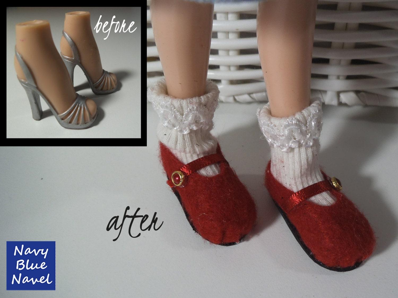 Diy Flat Shoes For Bratz Turn Bratz Heels Into Comfy