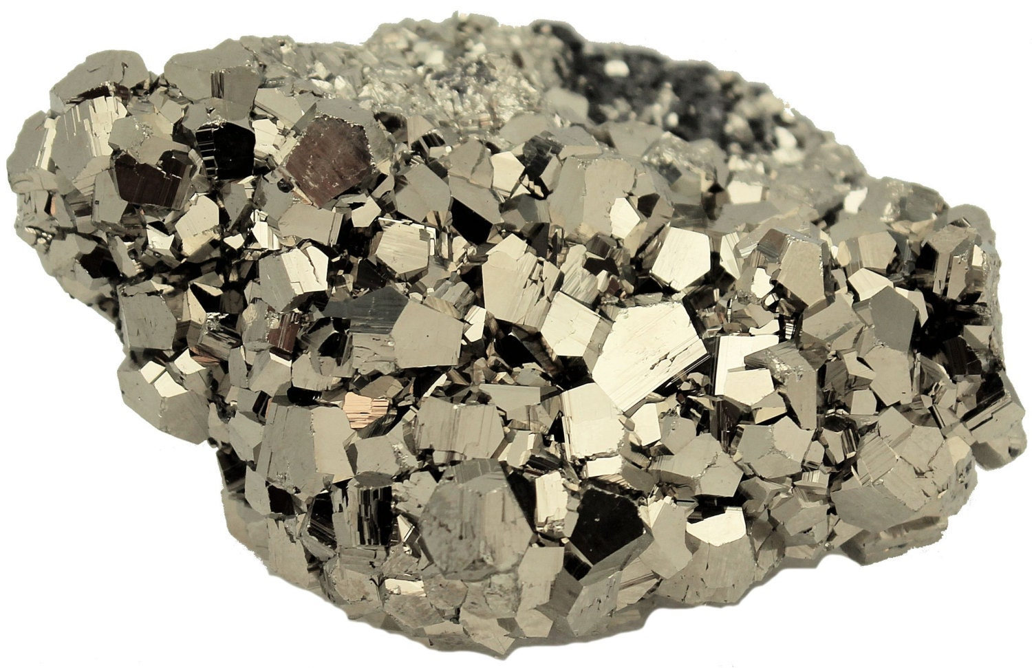 Iron Pyrite Crystals Cluster Fool's Gold 314 grams 3 x