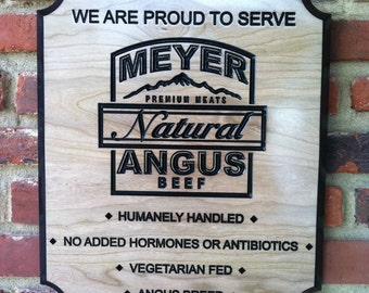 Custom Carved Business Sign - Made to order from Cherry or HDU
