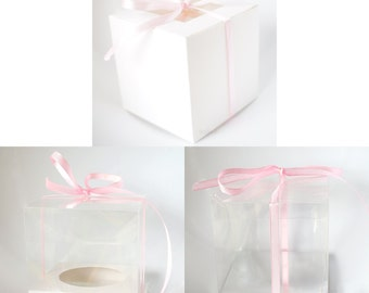 50 x Cupcake Boxes, Clear or White Single Cup Cake, FREE POSTAGE Australia Wide