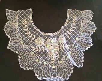 Lace Bib Necklace Applique