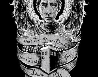 Doctor Who Don't Blink Weeping Angel T-shirt