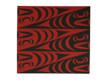 Salish Black and Red Serpents Limited Edition Print Edition of 50 Northwest Coast Native Serigraph