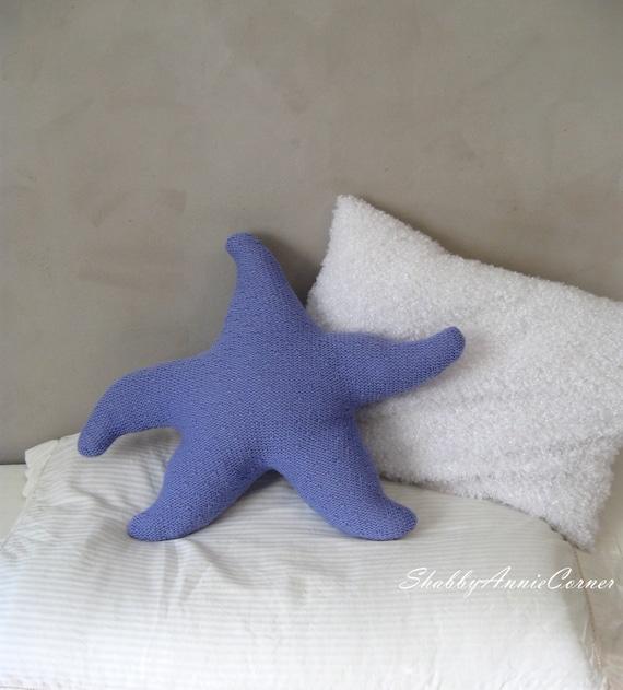 Nautical Floor Pillows : Star fish pillow Starfish pillow Coastal by ShabbyAnnieCorner