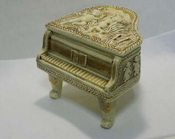 Vintage Ceramic Piano Figurine
