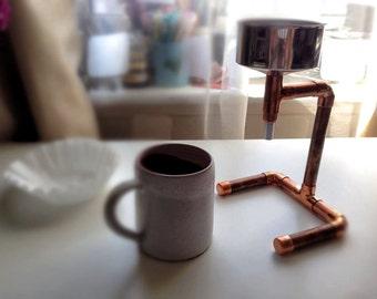 Handmade copper/steel vintage/steam-punk Coffee Maker